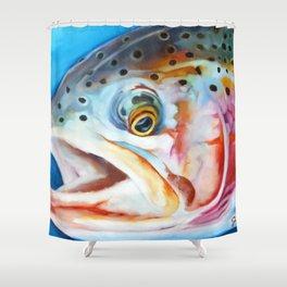 Graduation Trout Shower Curtain