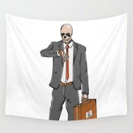 Business Skull Wall Tapestry