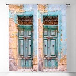 Blue Door in Antigua, Guatemala Blackout Curtain