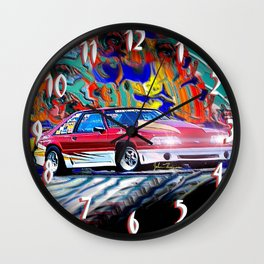 87  Pro Ford Mustang GT Wall Clock