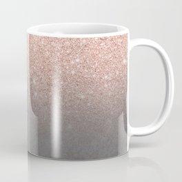 Rose gold glitter ombre grey cement concrete Coffee Mug