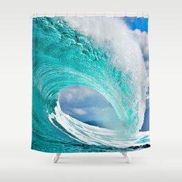 Wave Series Photograph No. 28 - Ocean Blue Shower Curtain