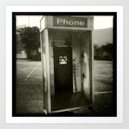 Phone booth no phone Art Print