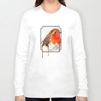 robin Long Sleeve T-shirts featuring Robin by Paint the Moment