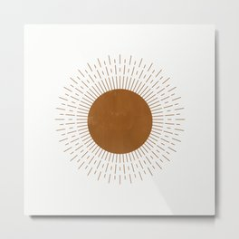 Modern Mid Century Sun Metal Print