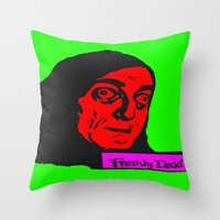 "gore Throw Pillows featuring No, it's pronounced ""Eye-gore"" 3 by Kramcox"