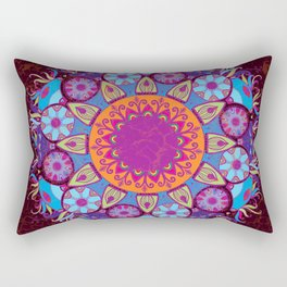 Ornamental round lace pattern.Delicate circle Rectangular Pillow