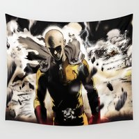 shingeki no kyojin Wall Tapestries featuring OPM by franz