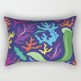 Ariel Mermaid Pattern Rectangular Pillow