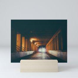 Milwaukee Bridge at Night Mini Art Print