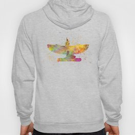 Egyptian goddess isis in watercolor Hoody