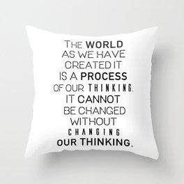 Einstein's quote Throw Pillow