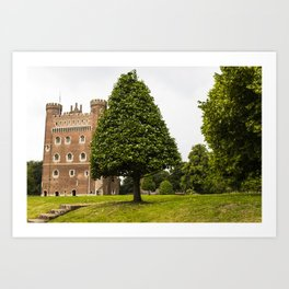 Tattershall Castle Grounds II - Lincolnshire Art Print