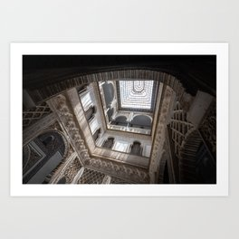 Courtyard of the Dolls in the Royal Alcázar Palace in Seville, Spain Art Print
