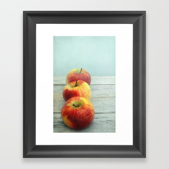 three apples Framed Art Print