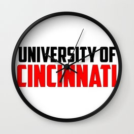 U of Cincinnati, Ohio Wall Clock
