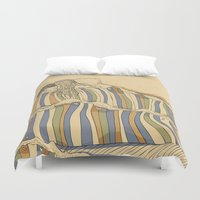 waves Duvet Covers featuring Ocean of love by Huebucket