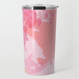 Pink Skies Abstract Travel Mug