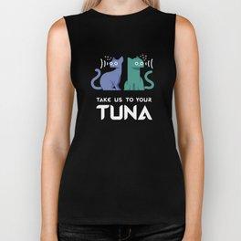 Take Us to Your Tuna Biker Tank