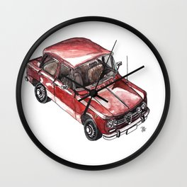 Iconic italian car watercolor painted Wall Clock