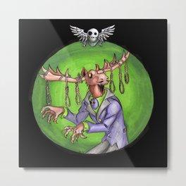 Noose Moose Dark Metal Print