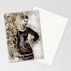 She works hard for the money. Stationery Cards