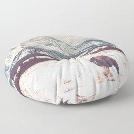 Bison & Tetons Floor Pillow