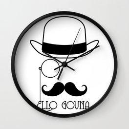 Ello Govna Wall Clock