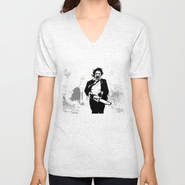 Leatherface protector of the queer Unisex V-Neck