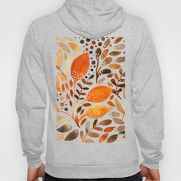 Autumn watercolor leaves Hoody