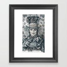 Mad Hatter - Johnny Depp Traditional Portrait Print Framed Art Print