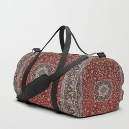 N63 - Red Heritage Oriental Traditional Moroccan Style Artwork Duffle Bag