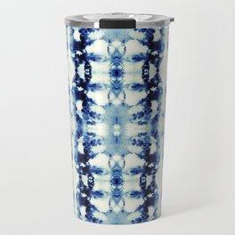 Tie Dye Blues Travel Mug