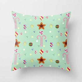 Candy cane pattern 3 Throw Pillow