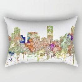 Denver, Colorado Skyline SG - Faded Glory Rectangular Pillow