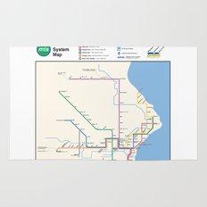 Milwaukee Transit System Map Rug