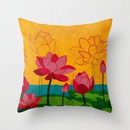 Flowers: lotus Throw Pillow