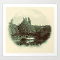 Across the River Avon Art Print