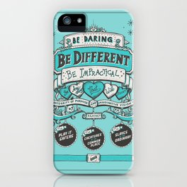 Be Daring, Be Different... iPhone Case
