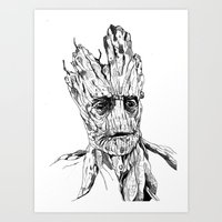 groot Art Prints featuring Groot by Giorgia Ruggeri