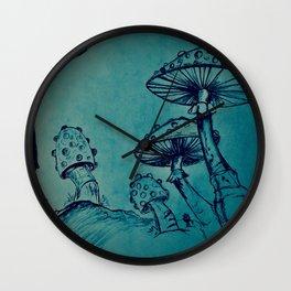Mushroom Garden Wall Clock