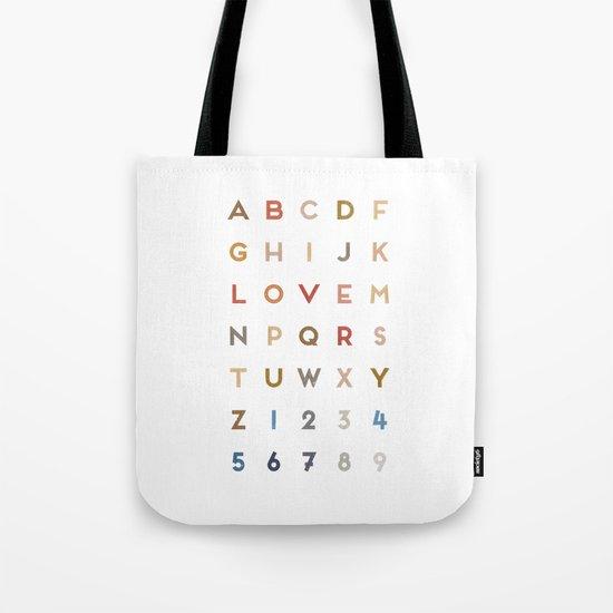 Letter Love - Color Tote Bag