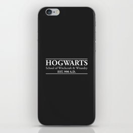 Hogwarts School of Witchcraft & Wizardry (Black) iPhone Skin