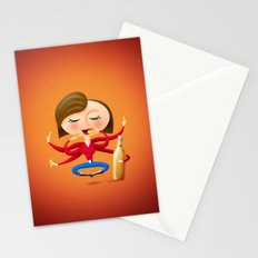 Beer & Chips Stationery Cards