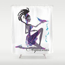 Starlight Aquarius Shower Curtain