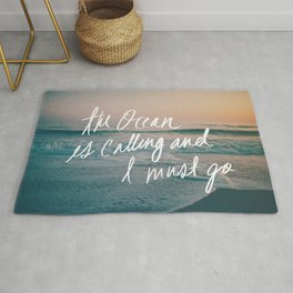 The Ocean is Calling by Laura Ruth and Leah Flores Rug