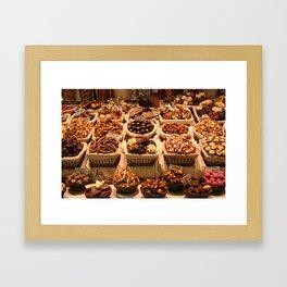 market no. 2: barcelona Framed Art Print