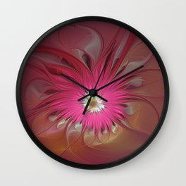 Flourish Fantasy, Abstract Fractal Art Wall Clock