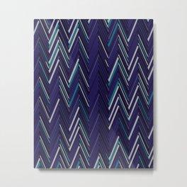 Abstract Chevron Metal Print