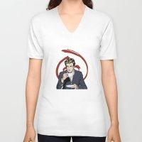 patrick V-neck T-shirts featuring Patrick Jane by Renan Lacerda